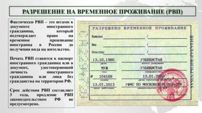 Документы для получения разрешения на временное проживание в РФ
